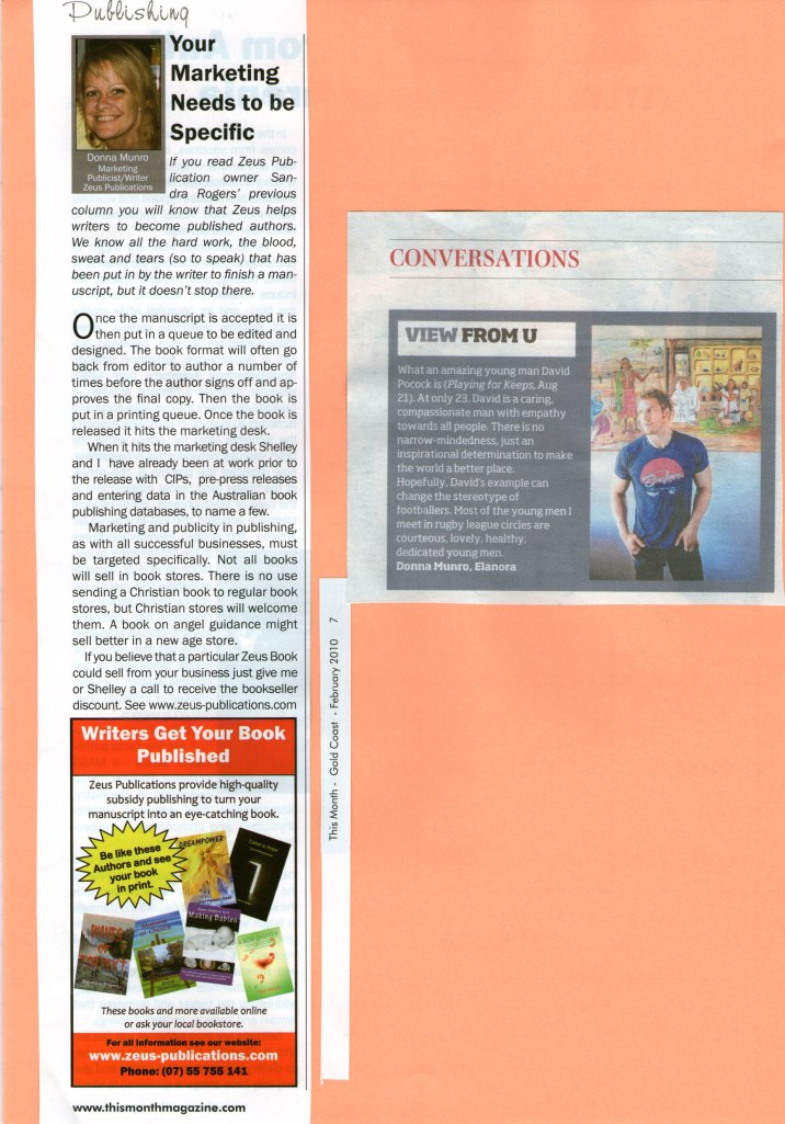 Marketing Column advertorial. Star letter to the editor.