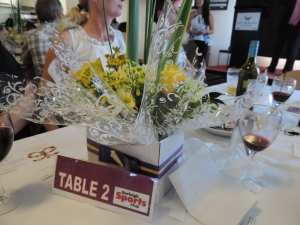 The centerpiece on our table (2) which Kay took home after the highest bid.
