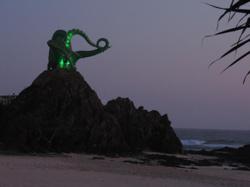 Swell octopus on Elephant Rock.