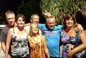 Chris, Leanne, Bevil, Me, John and Sue, sharing a fun night out in Tallebudgera.