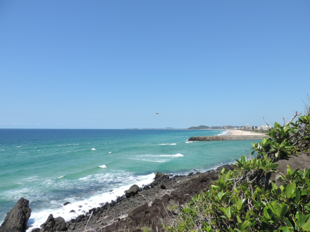 View to Coolangatta from The Cove.