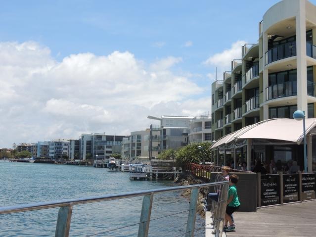 La Promenade Cafe and down the Plumicestone Passage towards the caravan park.