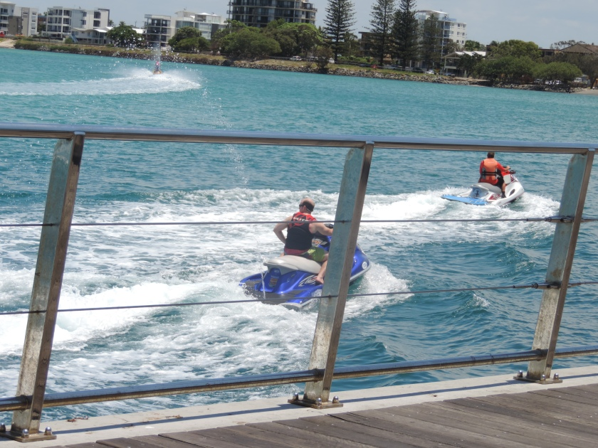 Jet skiing looks like so much fun on a perfect day in Caloundra.