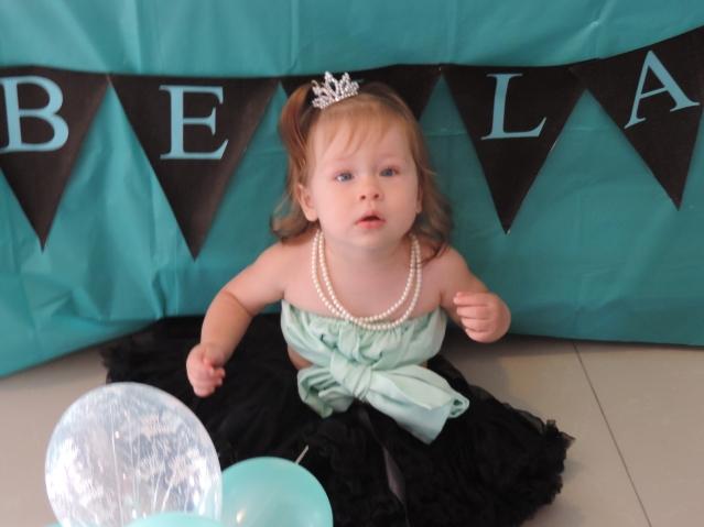Larabella enjoying her 1st birthday party.