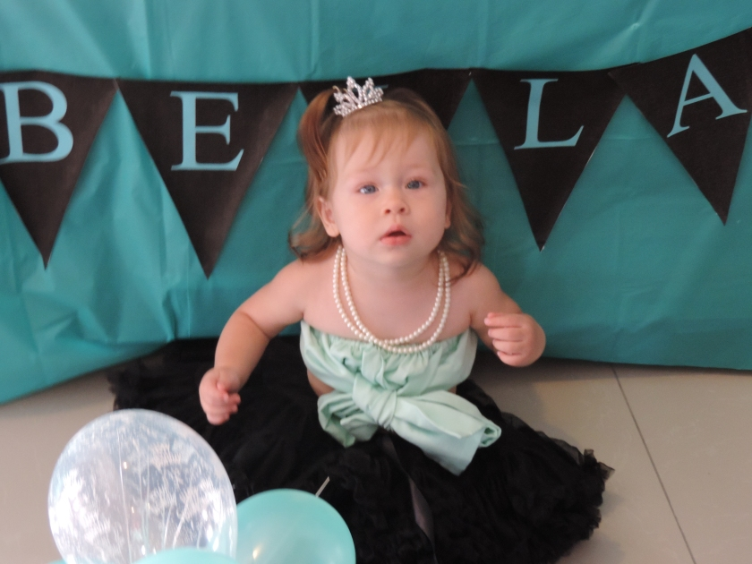 Larabella enjoying her 1st birthday party.
