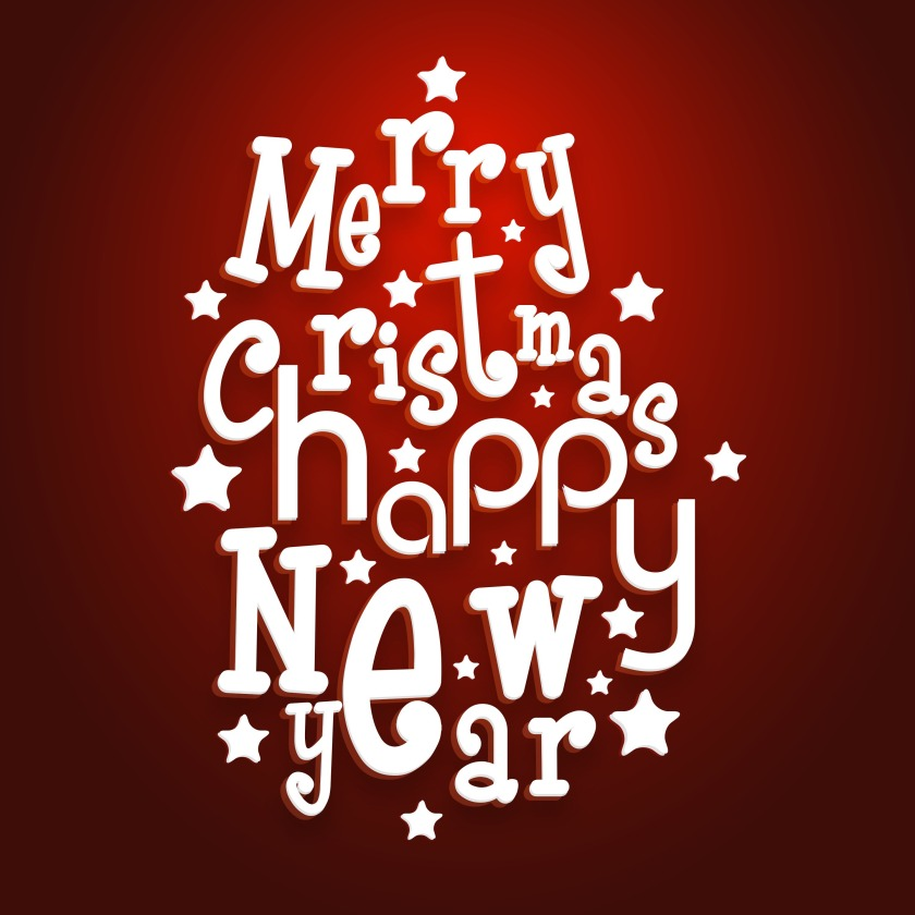 Merry Christmas Happy New Year (Graphic Stock)