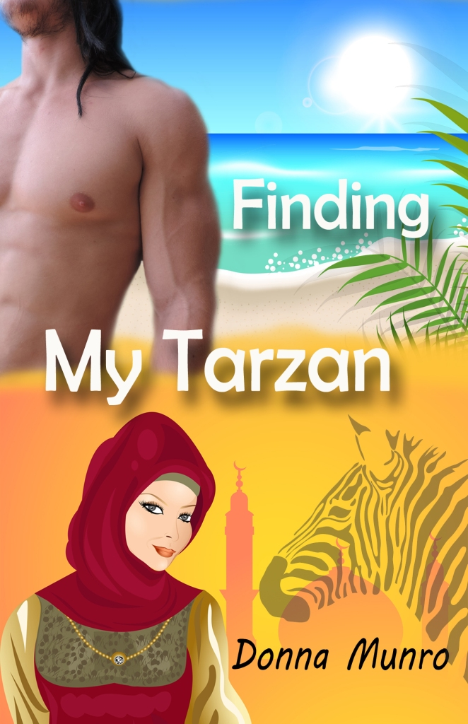 Finding My Tarzan sample book cover for potential published novel.
