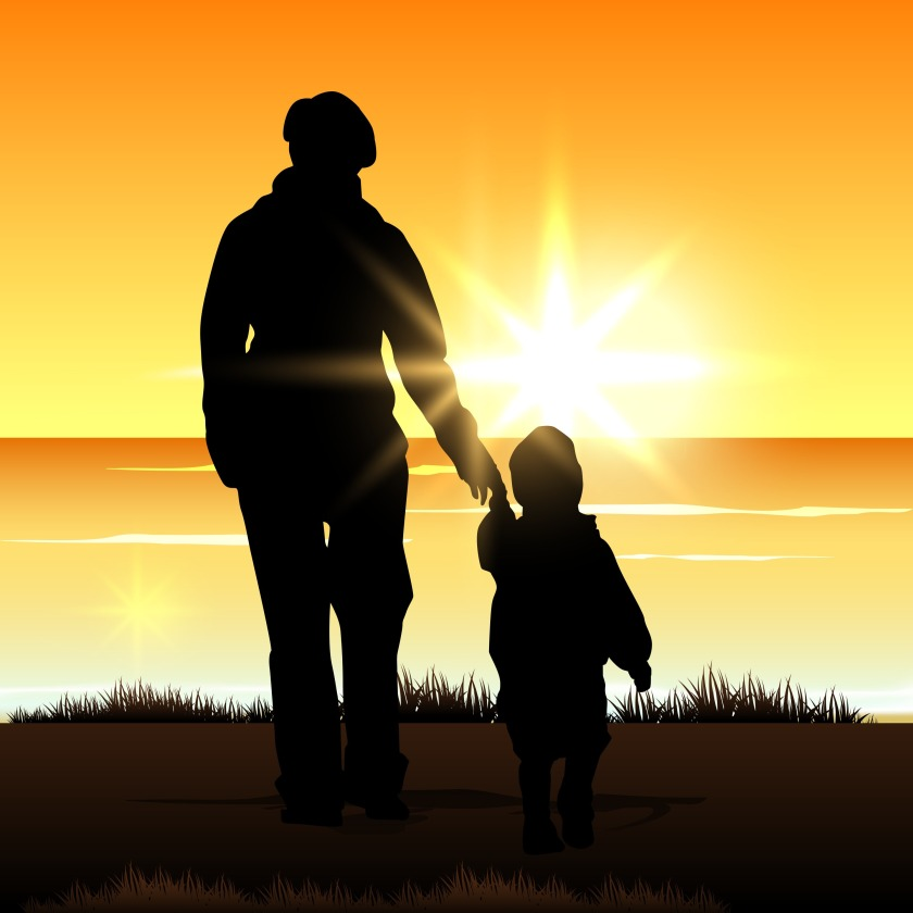 silhouette-of-a-mother-with-her-child-on-evening-background_Mk_hjjuO