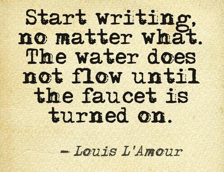 Start writing tip (from Pinterest)