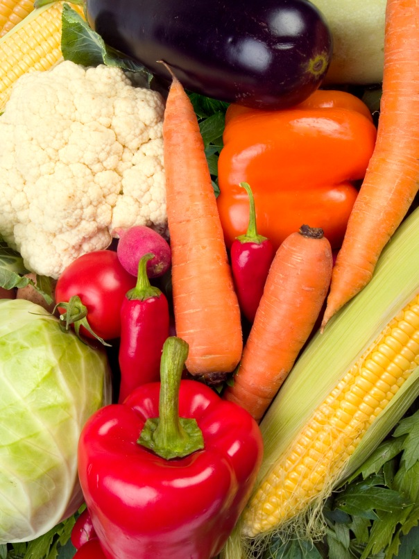 Fresh vegetables are a great source of nutrition.