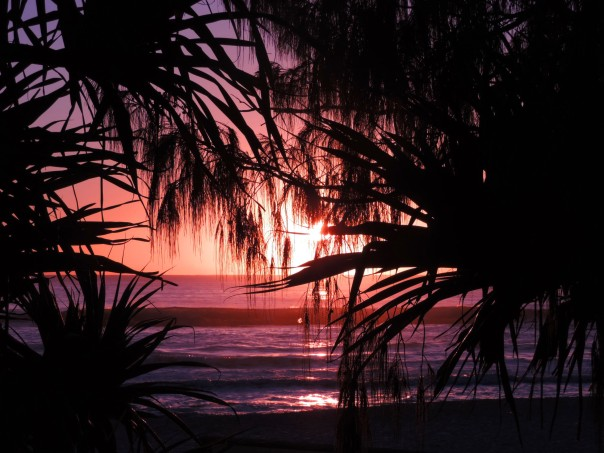 Sunrise at Currumbin Beach Qld.