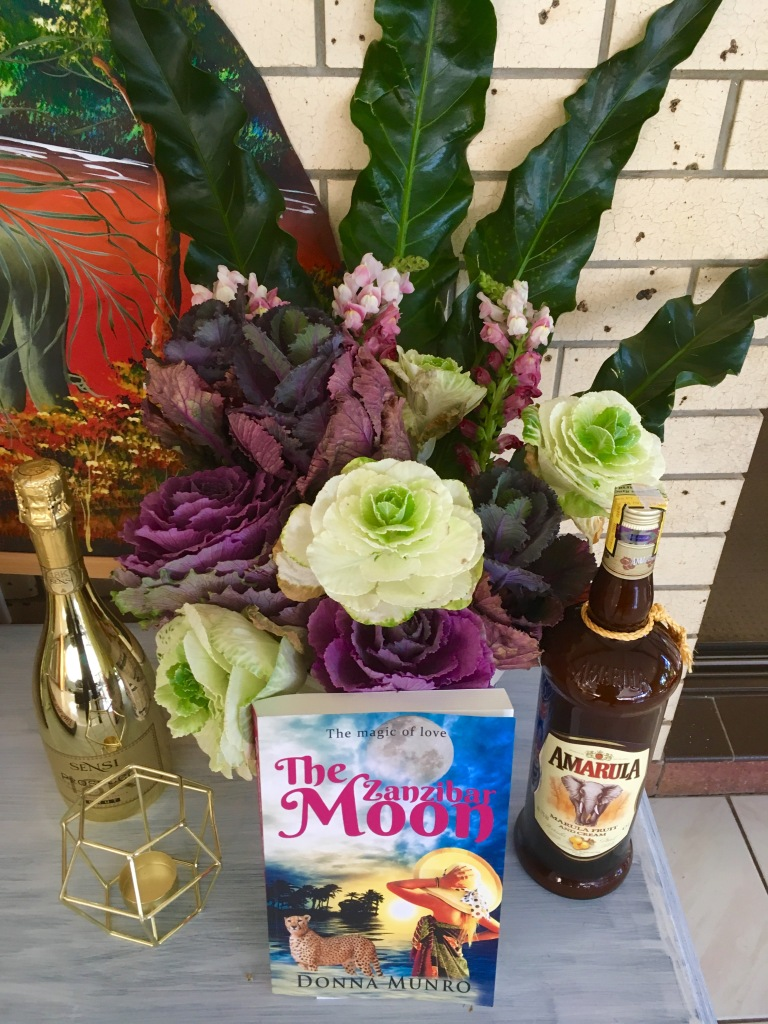 Flowers, gifts, The Zanzibar Moon, champagne, Amarula.