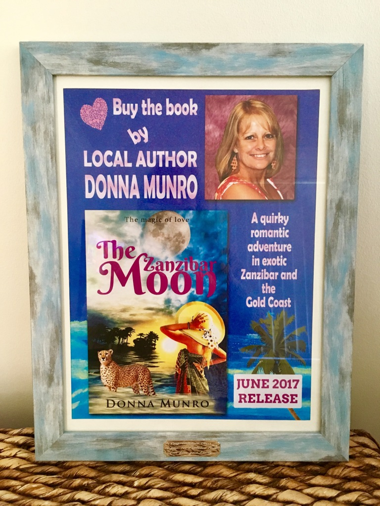 The Zanzibar Moon author book launch poster.