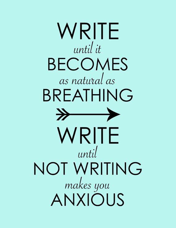 keep calm and write